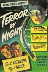 Terror by Night 1946 DVD - Basil Rathbone / Nigel Bruce